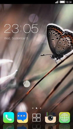 Butterfuly CLauncher Android Theme Image 1