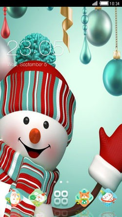 Happy Snowman CLauncher Android Theme Image 1