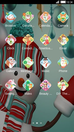 Happy Snowman CLauncher Android Theme Image 2