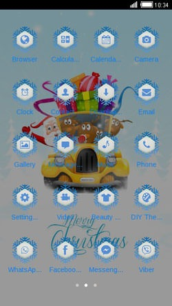 Merry Christmas CLauncher Android Theme Image 2