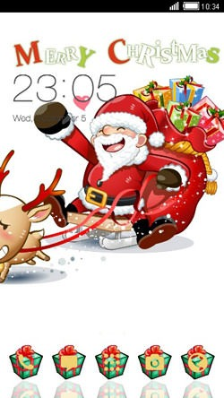 Santa CLauncher Android Theme Image 1