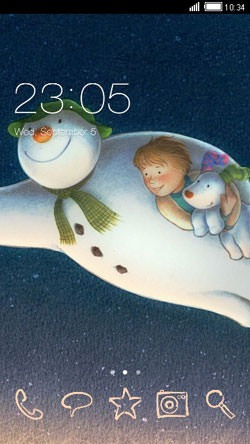 Snowman CLauncher Android Theme Image 1