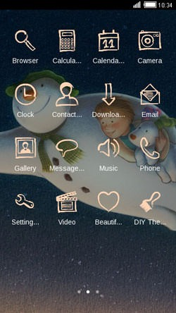Snowman CLauncher Android Theme Image 2
