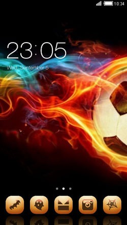 Fire Ball CLauncher Android Theme Image 1