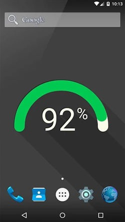 Flat Battery Android Wallpaper Image 1