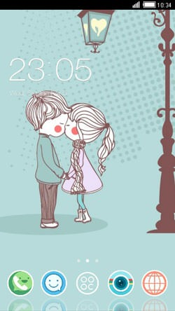 Innocent Love CLauncher Android Theme Image 1