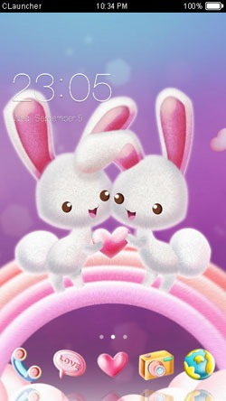 Love Bunnies CLauncher Android Theme Image 1