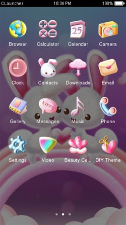 Love Bunnies CLauncher Android Theme Image 2