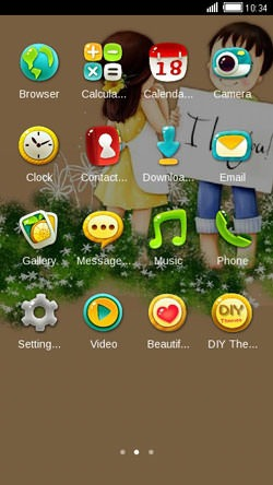 Love You CLauncher Android Theme Image 2