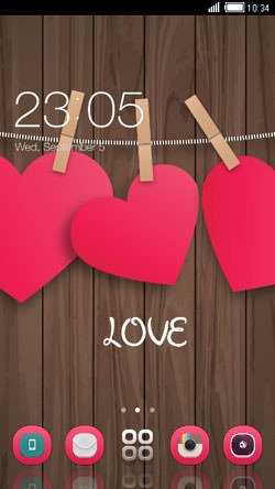 Pink Hearts CLauncher Android Theme Image 1