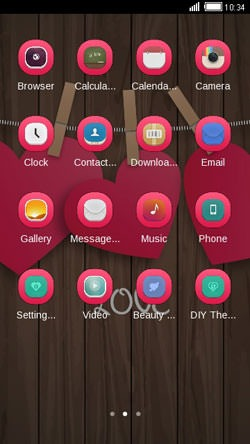 Pink Hearts CLauncher Android Theme Image 2
