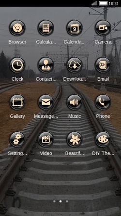 Railway Trach CLauncher Android Theme Image 2