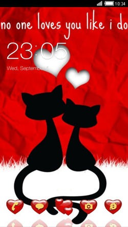 Red Love CLauncher Android Theme Image 1