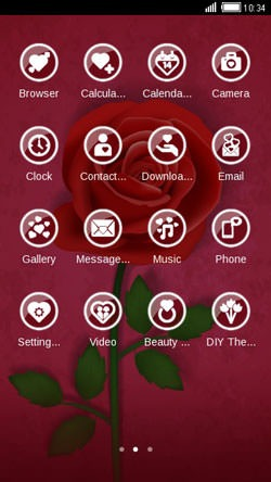 Red Rose CLauncher Android Theme Image 2