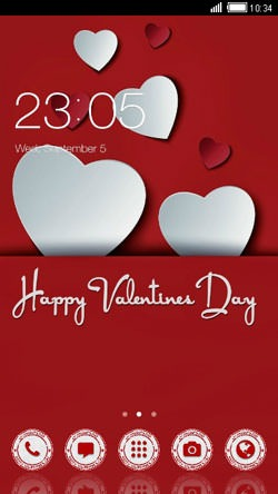 Valentine's Day CLauncher Android Theme Image 1