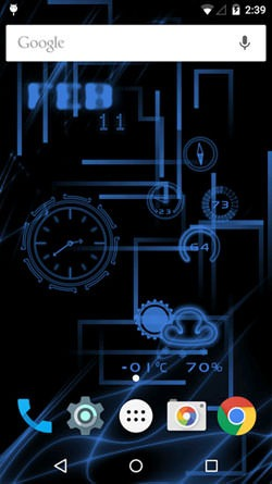 Neon Clock Android Wallpaper Image 2