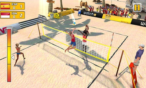 Beach Volleyball 3D Android Game Image 1