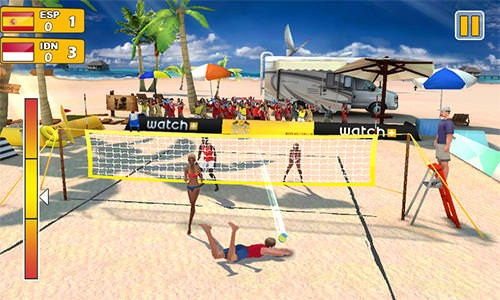 Beach Volleyball 3D Android Game Image 2