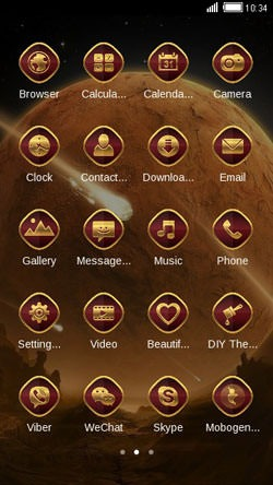 Meteor CLauncher Android Theme Image 2