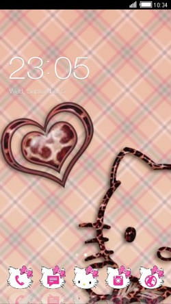Kitty Love CLauncher Android Theme Image 1