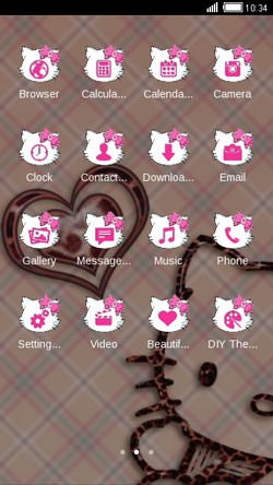 Kitty Love CLauncher Android Theme Image 2