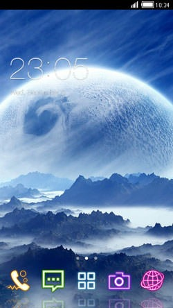 Moon CLauncher Android Theme Image 1