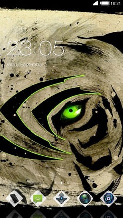 Green Tiger CLauncher Android Theme Image 1