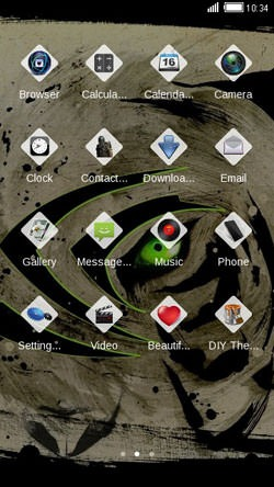 Green Tiger CLauncher Android Theme Image 2