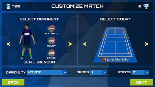 3D Pro Badminton Challenge Android Game Image 1