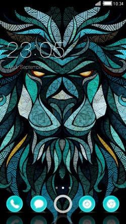 Lion Blue CLauncher Android Theme Image 1