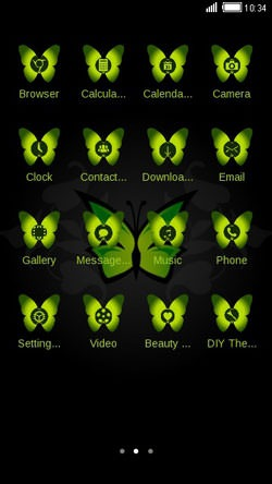 Green Butterfly CLauncher Android Theme Image 2