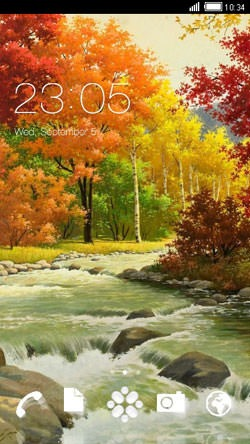 Lake CLauncher Android Mobile Phone Theme Image 1