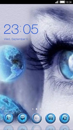 Blue Eye CLauncher Android Theme Image 1