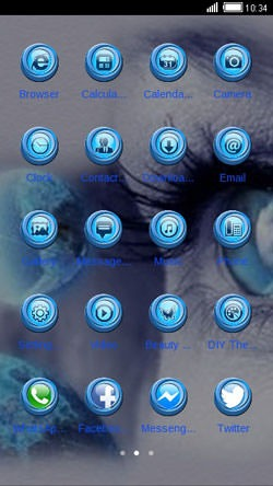 Blue Eye CLauncher Android Theme Image 2