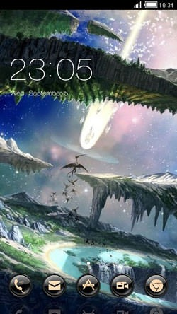 Fantasy World CLauncher Android Theme Image 1
