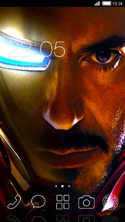 Ironman CLauncher Android Mobile Phone Theme Image 1