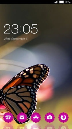 Butterfly CLauncher Android Mobile Phone Theme Image 1