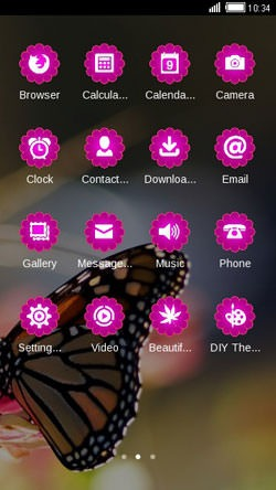 Butterfly CLauncher Android Mobile Phone Theme Image 2