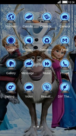 Frozen CLauncher Android Mobile Phone Theme Image 2