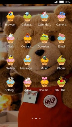 Ted CLauncher Android Mobile Phone Theme Image 2