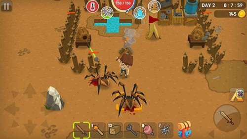 Mine Survival Android Mobile Phone Game Image 1