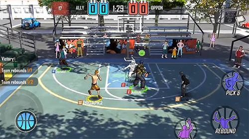Street Wars: Basketball Android Mobile Phone Game Image 2