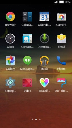 Beautiful Sunset CLauncher Android Theme Image 2