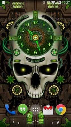 Steampunk Clock Android Wallpaper Image 1