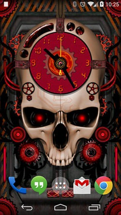 Steampunk Clock Android Wallpaper Image 2