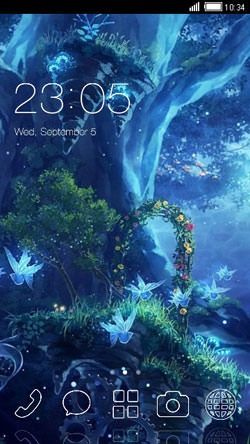 Ocean CLauncher Android Theme Image 1