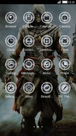 Assassin CLauncher Android Mobile Phone Theme Image 2