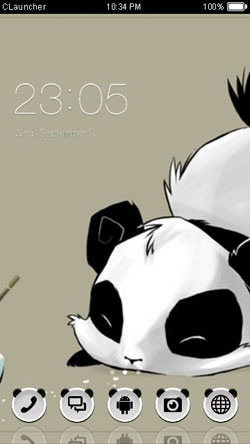 Panda CLauncher Android Mobile Phone Theme Image 1