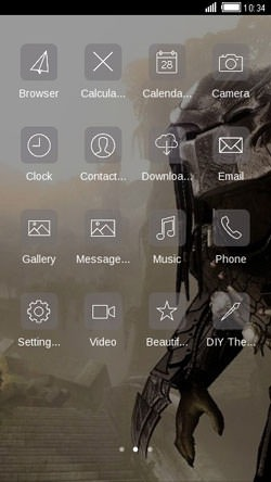 Predator CLauncher Android Mobile Phone Theme Image 2