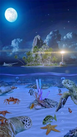 Ocean Aquarium 3D: Turtle Isles Android Wallpaper Image 2